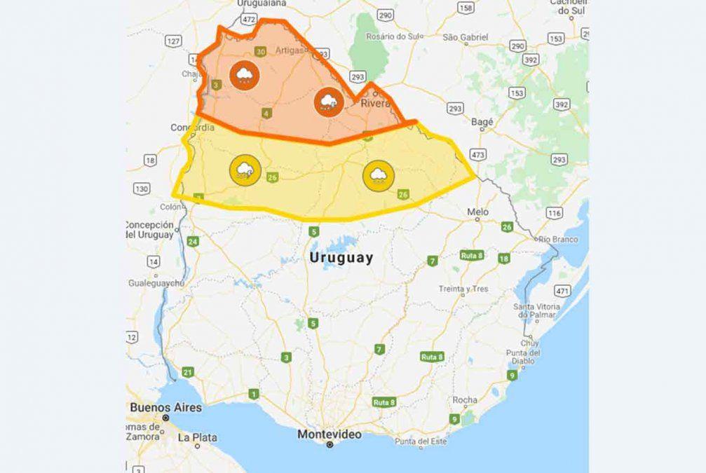 Alerta naranja y amarilla por persistencia de tormentas y lluvias