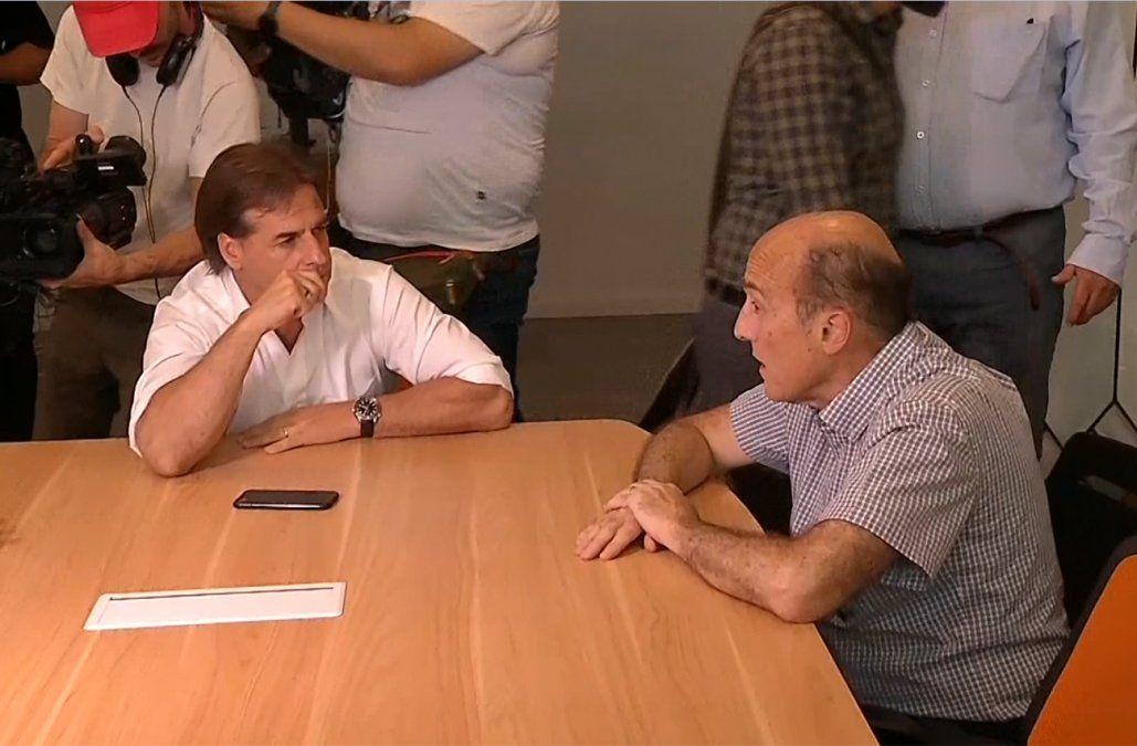 Martínez le expresó a Lacalle Pou su disposición a colaborar