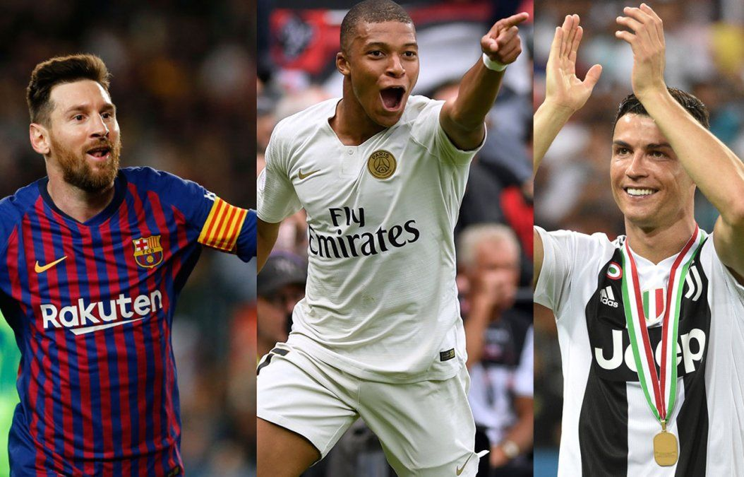 Messi, Mbappé y Ronaldo nominados al Balón de Oro 2019