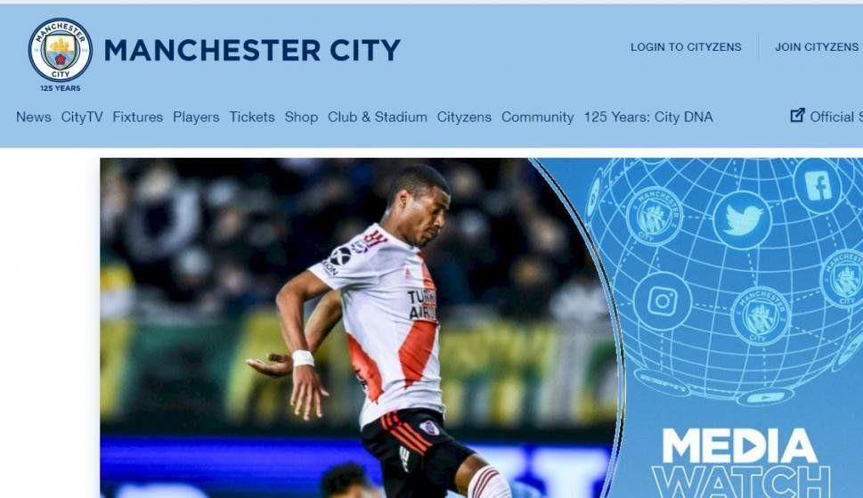 En el sitio web Manchester City nombra a De la cruz como la estrella uruguaya