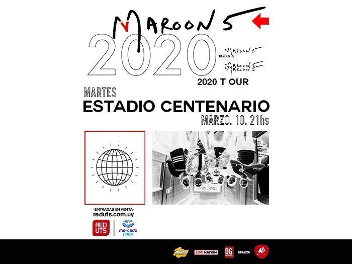 Maroon 5 se presentará en el Estadio Centenario en marzo