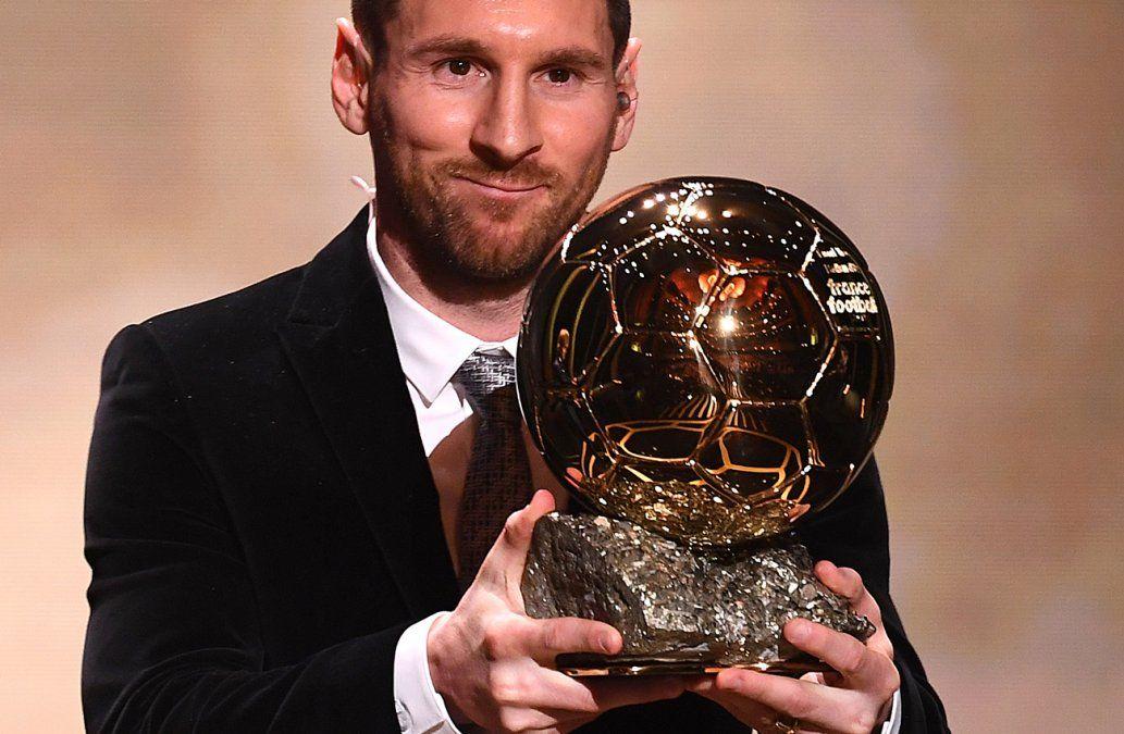 Lionel Messi gana su sexto Balón de Oro logrando un récord absoluto