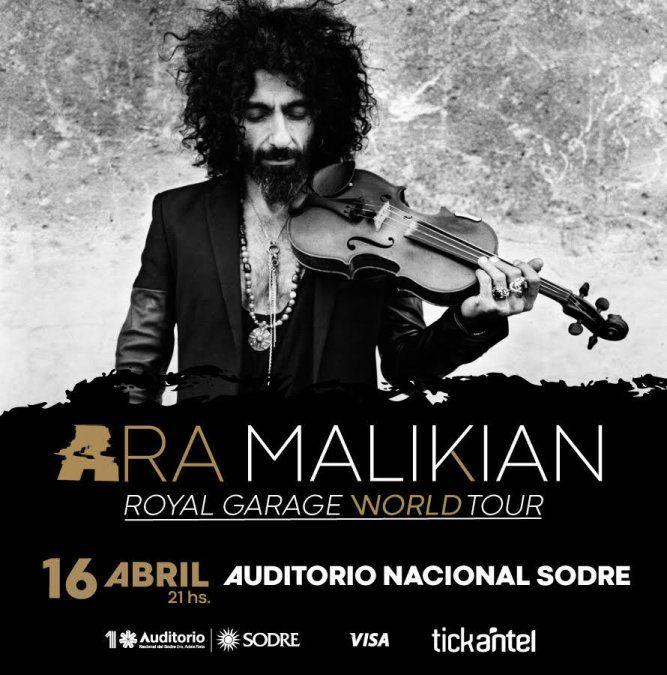 Ara Malikian regresa a Uruguay con Royal Garage World Tour