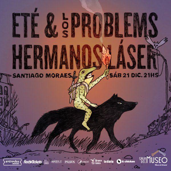 Eté & Los problems + Hermanos Láser se presentan en Sala del museo