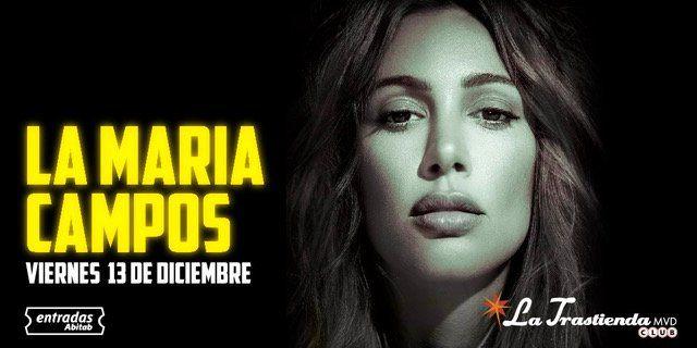 María Campos presenta su primer concierto en nuestro país