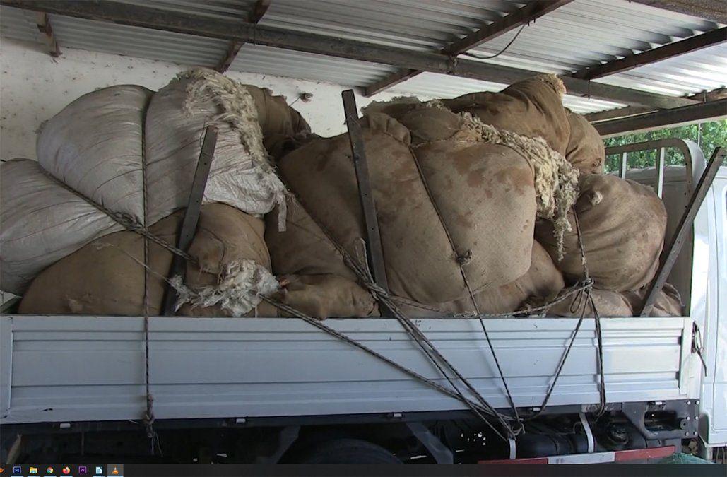 Dos hombres fueron imputados por el robo de los 4.000 kilos de lana