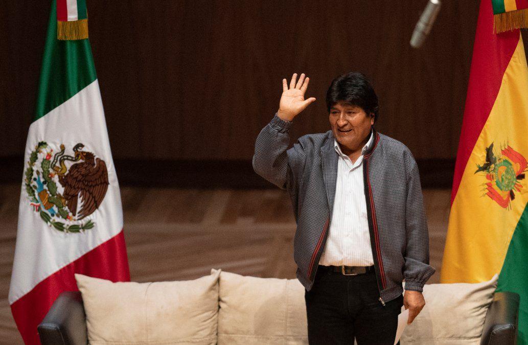 Evo Morales recién llegado a México