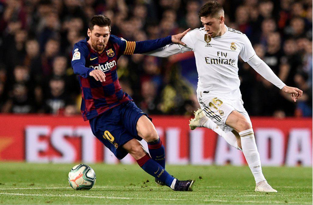 Con un Valverde destacado por su juego, Barcelona y Real Madrid empataron sin goles