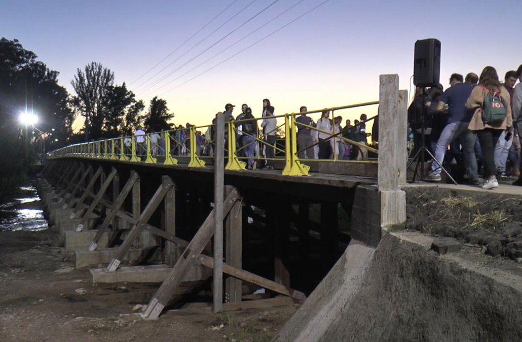Inauguraron el Puente viejo de Durazno, reconstruido recientemente