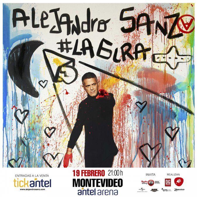 Este miércoles Alejandro Sanz se presenta en Antel Arena, con su tour #Lagira