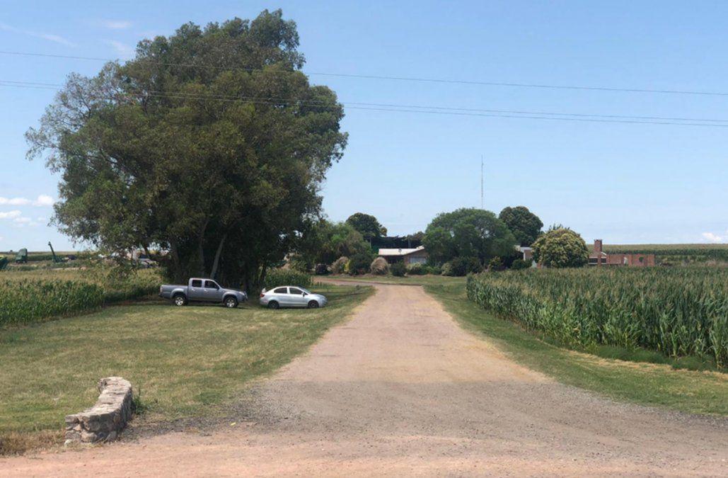 Foto: El establecimiento rural de Soriano desde donde partió la cocaína incautada en Montevideo.