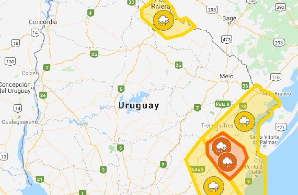 Continúan alertas naranja y amarilla pero cambian zonas afectadas