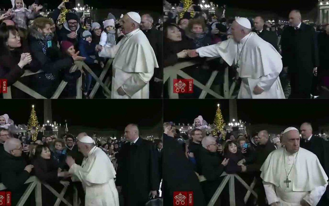 El papa se disculpa por haber perdido la paciencia con fiel demasiado insistente