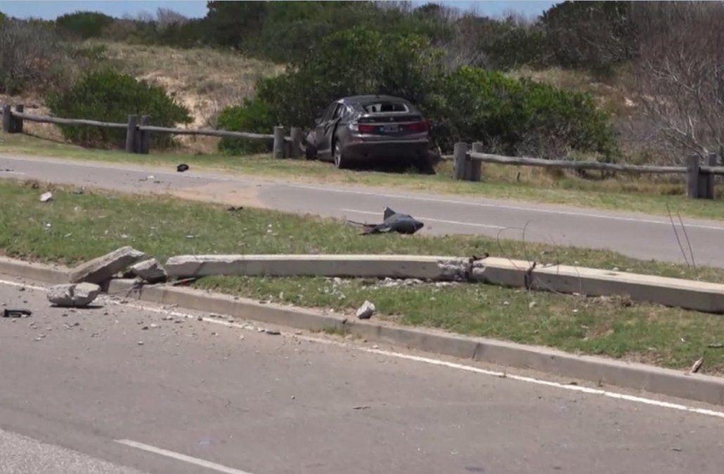 Mujer fue embestida por un auto y cayó sobre otro vehículo que circulaba en sentido contrario