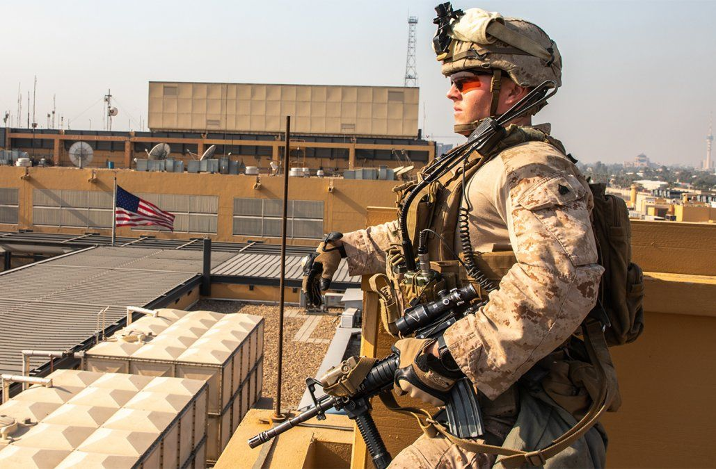 Dos proyectiles impactaron en la zona de la embajada de Estados Unidos en Irak