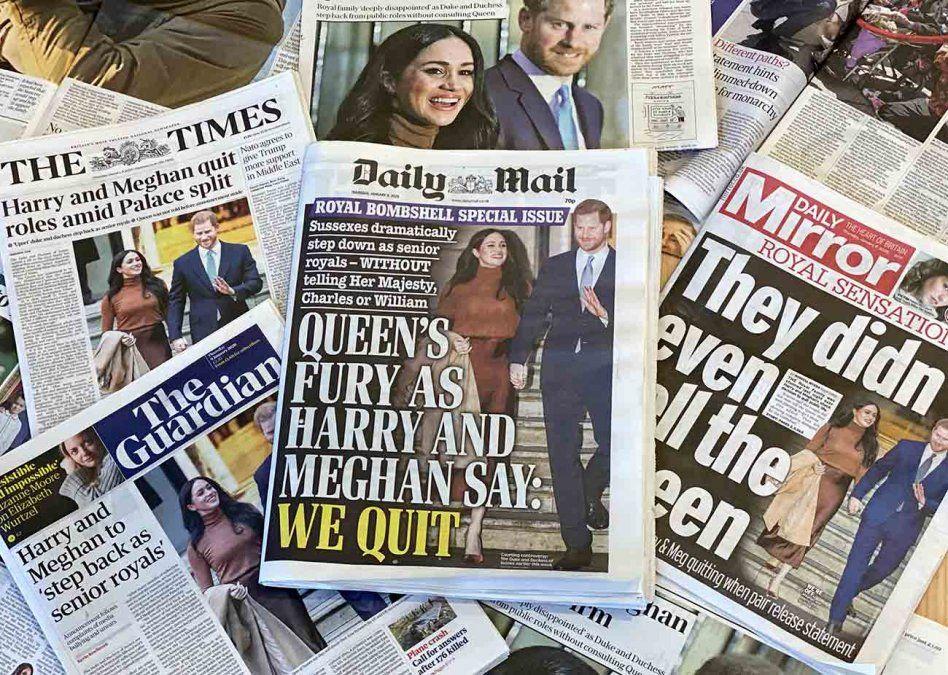 La familia real británica está dolida por la decisión de Harry y Meghan