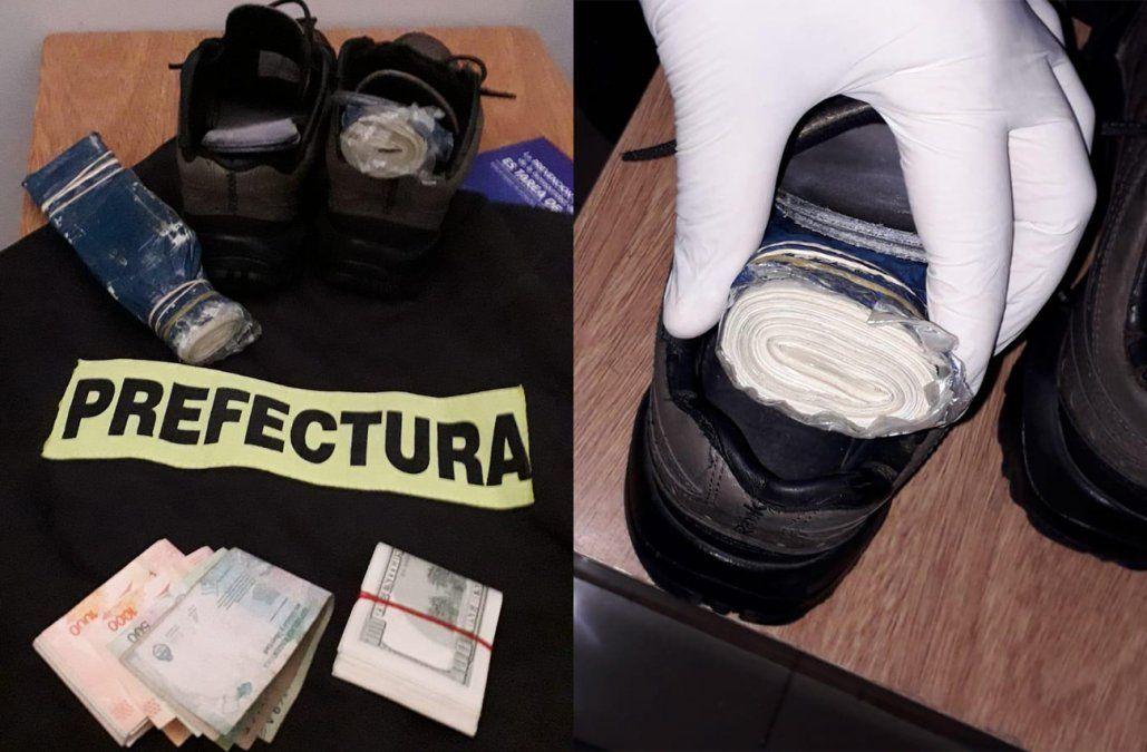 Un argentino fue detenido con 40.000 dólares ocultos en los zapatos