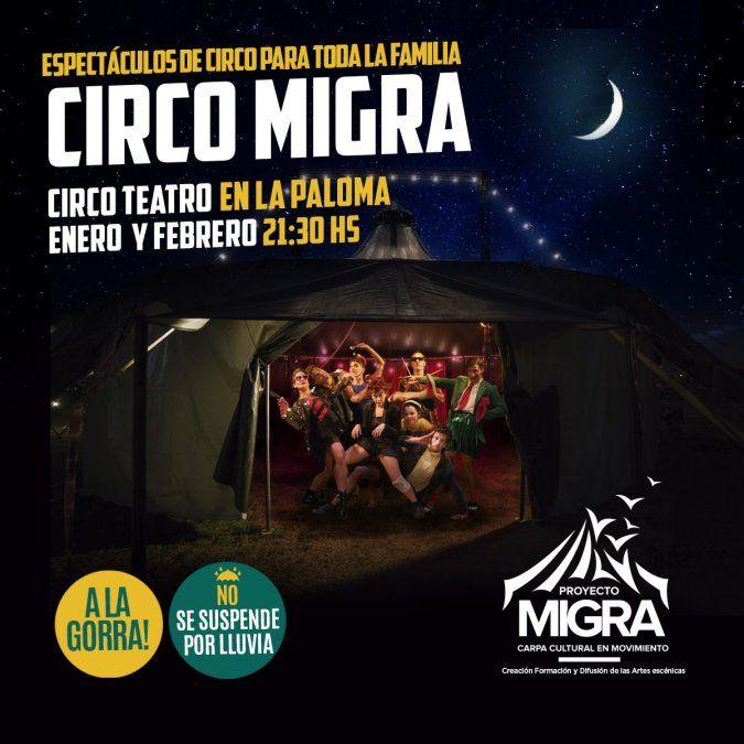 Con espectáculos y talleres, Circo Migra se instala en La Paloma