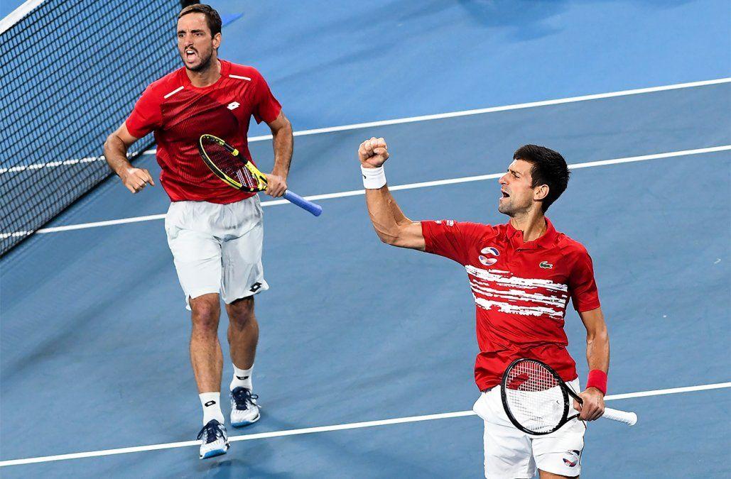 La Serbia de Novak Djokovic derrota a España en la final y gana la ATP Cup