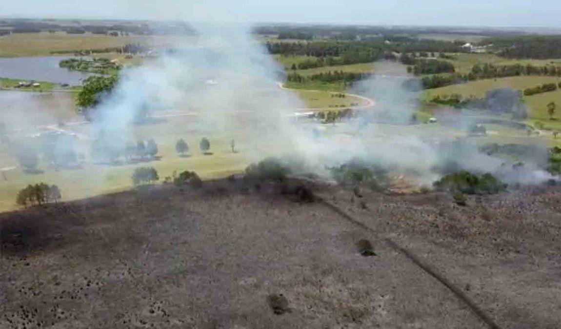 Otro grave incendio en Chihuahua, el fuego no está controlado y ya se quemaron ocho hectáreas