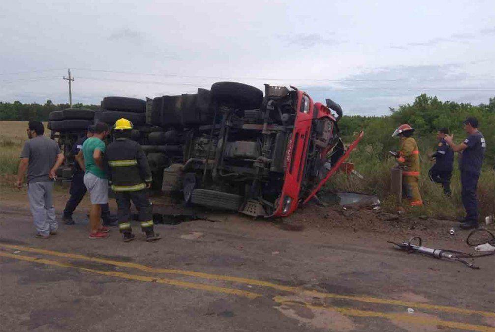 Accidente fatal en Cerro Largo tras vuelco de un camión brasileño