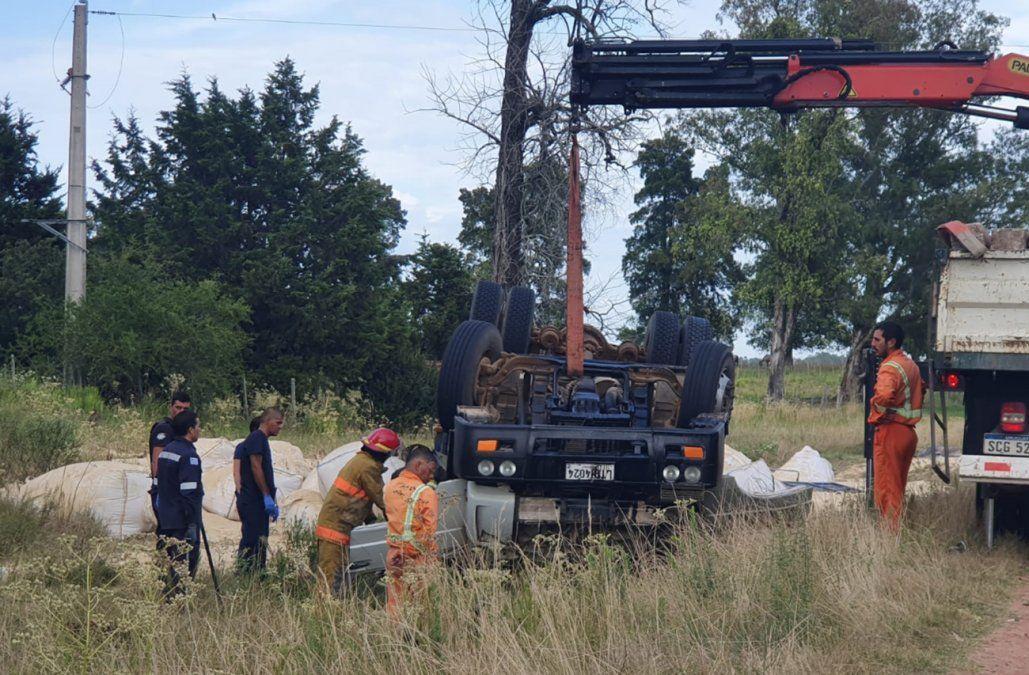Conductor de camión de carga falleció en un siniestro de tránsito en Cerro Largo
