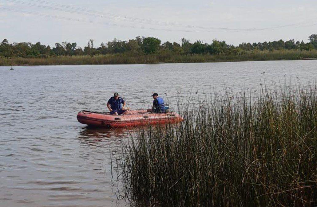 Intensa búsqueda de una persona desaparecida en el Río Santa Lucía, Parador Las Brujas