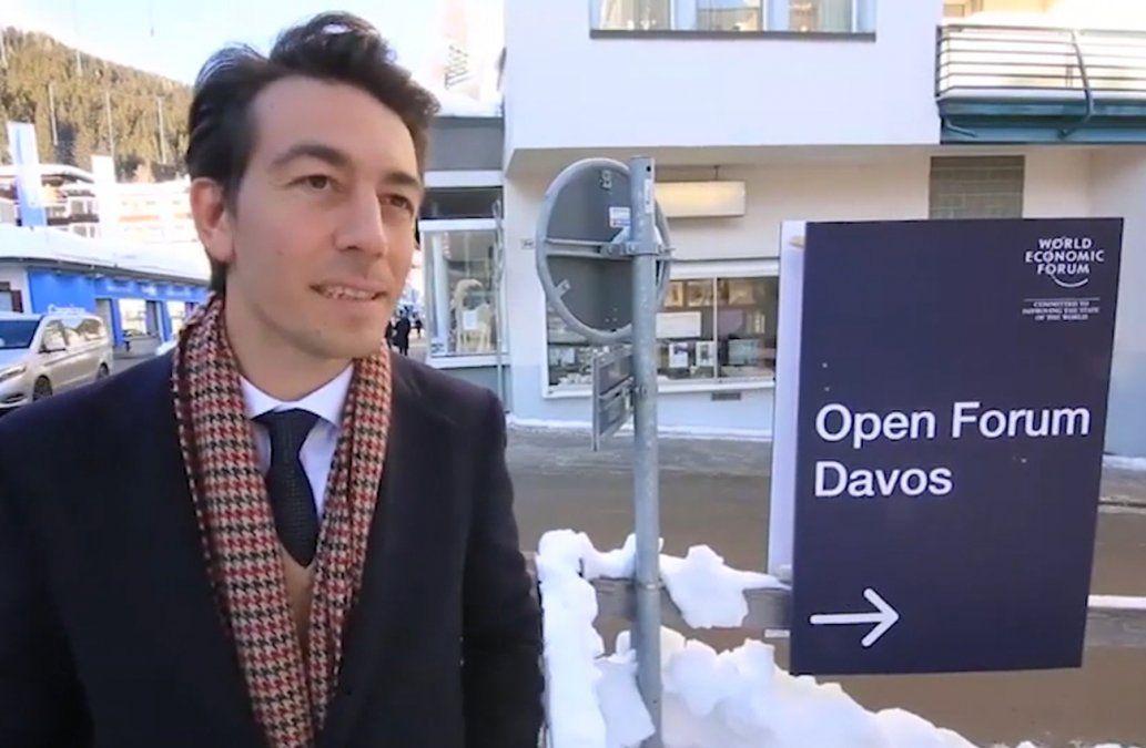 Sartori viajó a Europa para participar en una nueva instancia del Foro Económico de Davos