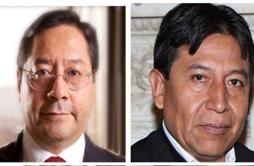 Arce (izquierda) fue ministro de Economía y cerebro del milagro boliviano. El excanciller David Choquehuanca completa la fórmula.