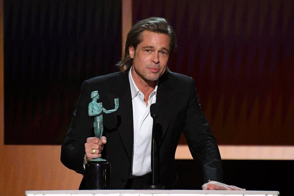 Brad Pitt recibió otro galardón como mejor actor de reparto por Érase una vez en Hollywood