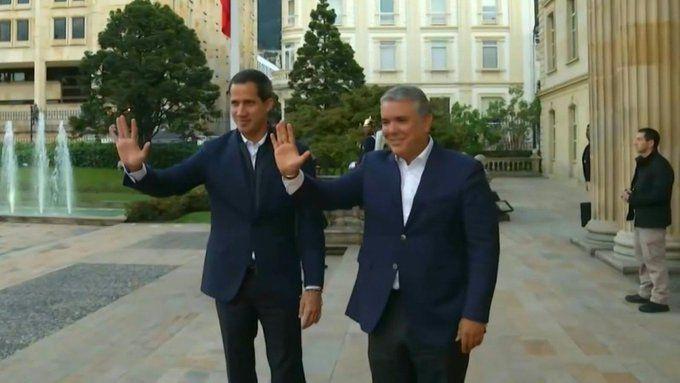 Guaidó fue recibido por Iván Duque en la residencia de Nariño