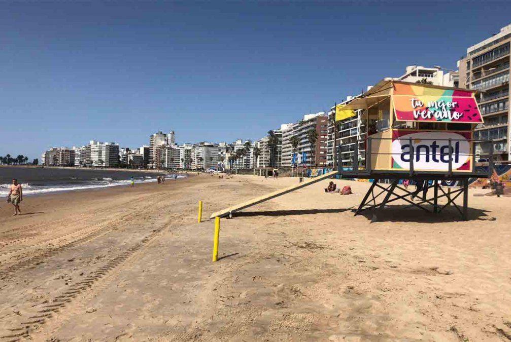 Guardavidas no bajarán a las playas de Montevideo este jueves