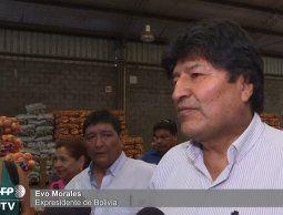 Evo Morales asegura que respeta candidatura de Jeanine Áñez en Bolivia