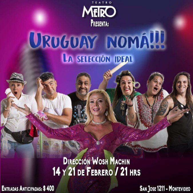 Humor nacional en el Teatro Metro de la mano de Uruguay Noma