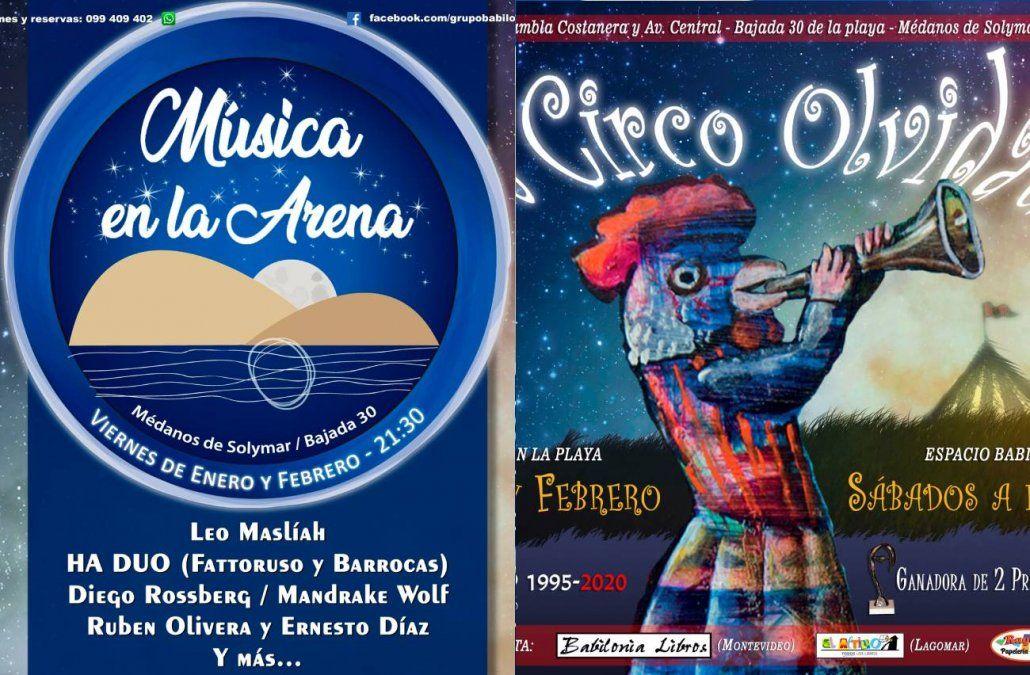 Vuelven El circo Olvidado y Música en la arena a Médanos de Solymar