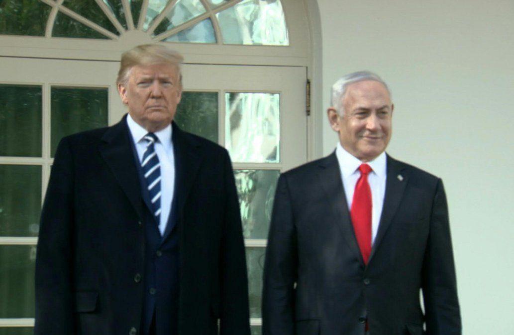 Trump presentó el plan junto a Netanyahu.