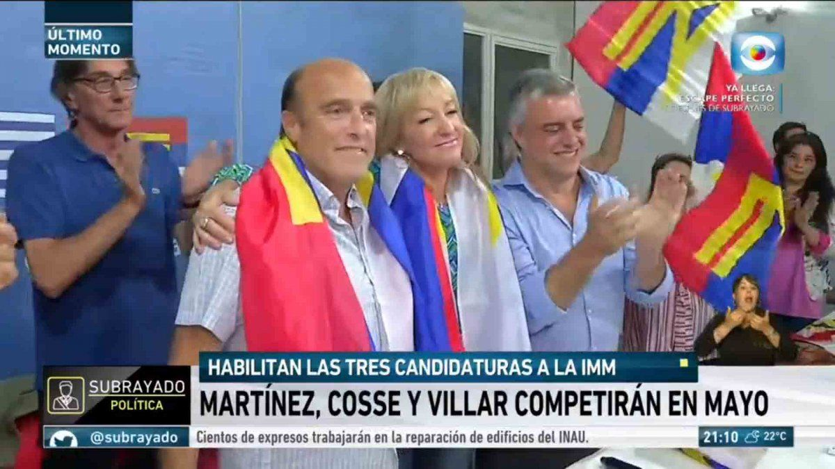 Plenario del FA aprobó las tres candidaturas para Montevideo: Martínez, Cosse y Villar