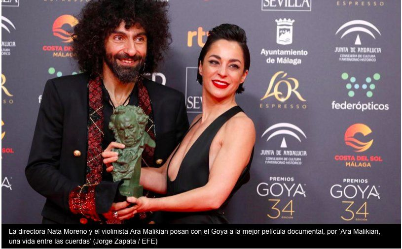 Ara Malikian, ganador del Goya a mejor película documental, llega a Uruguay