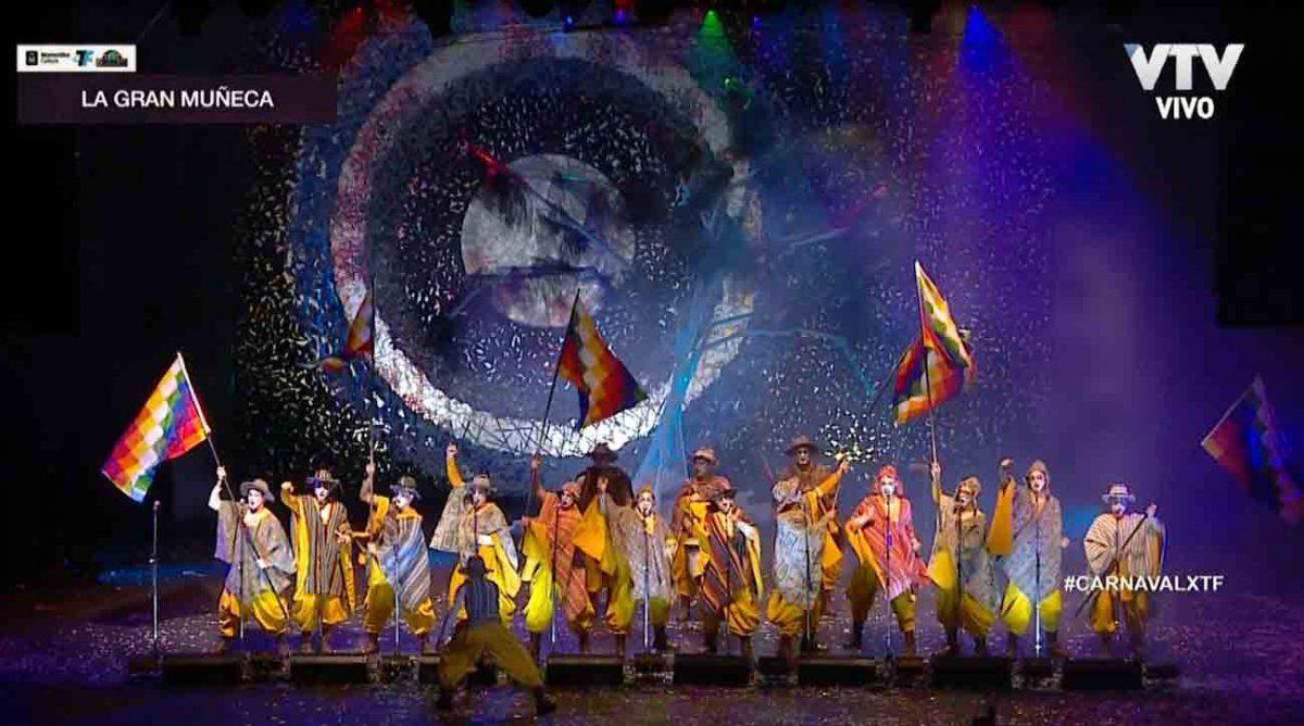 La Gran Muñeca cerró la primera etapa del Concurso Oficial de Carnaval