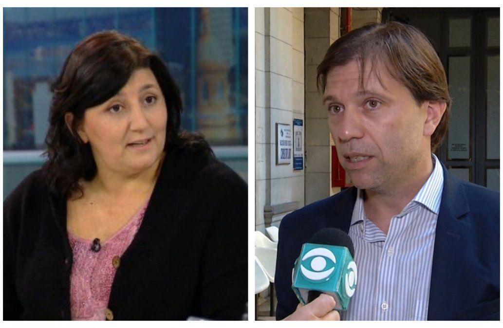 Andrea Tuana y Juan Ceretta. Hay buena disposición de la AUF al reclamo feminista