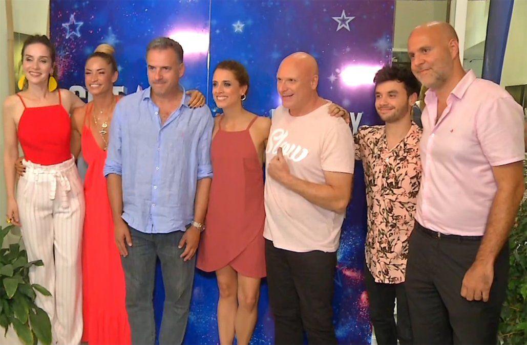 Natalia Oreiro y el jurado de Got Talent reconocidos por la Intendencia de Canelones