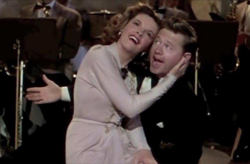 Mickey Rooney-Judy Garland: realizaron juntos 12 films y fueron la pareja más rentable de Hollywood