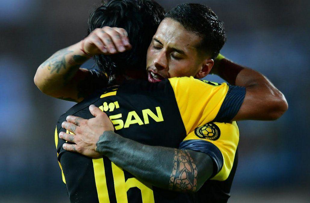 Trindade celebra el gol convertido en el minuto 90 ante Cerro que significó la victoria ante Cerro