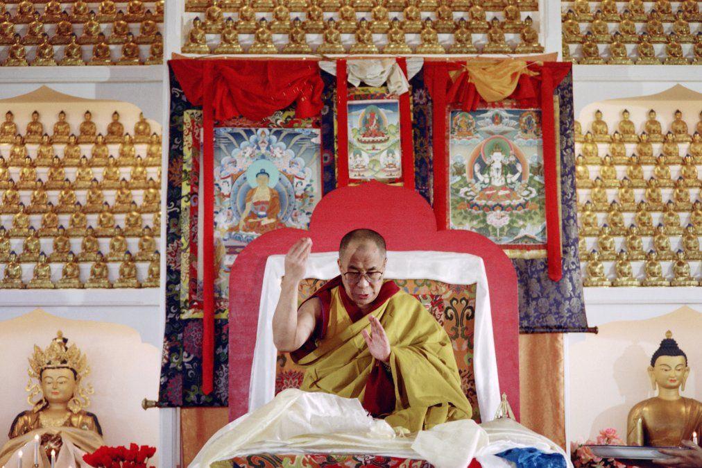 Foto: En 1993 en el templo budista de Karma Migyur Ling