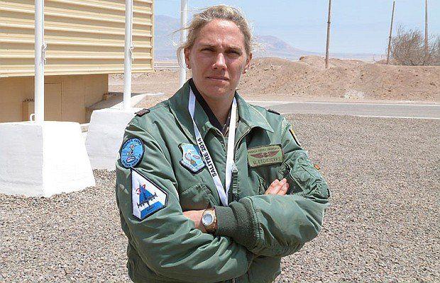 María Etcheverry en una foto de 2015 tomada por el diario La República. En su escuadrilla de enlace tenía 16 oficiales a cargo.