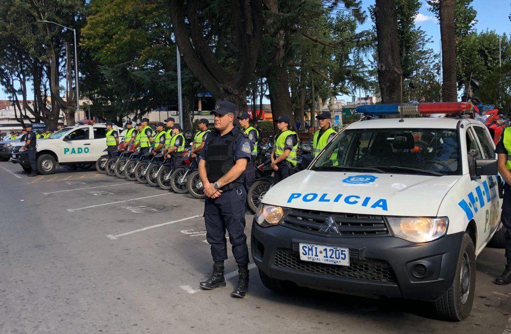 Larrañaga fue a Canelones a presenciar el primer megaoperativo de seguridad de su gestión