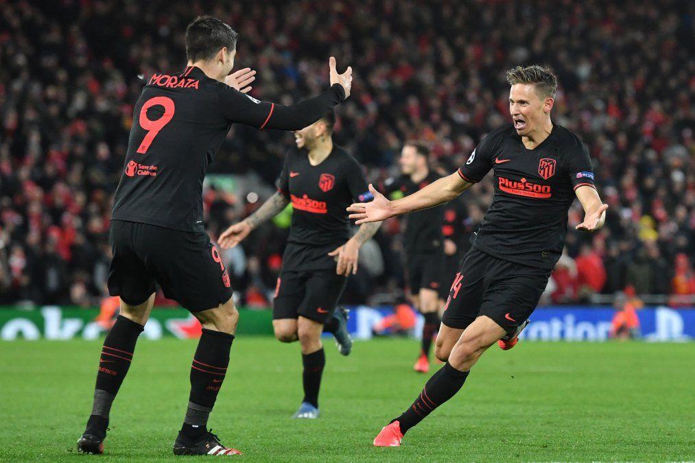 El Atlético de Madrid eliminó a Liverpool, el último campeón