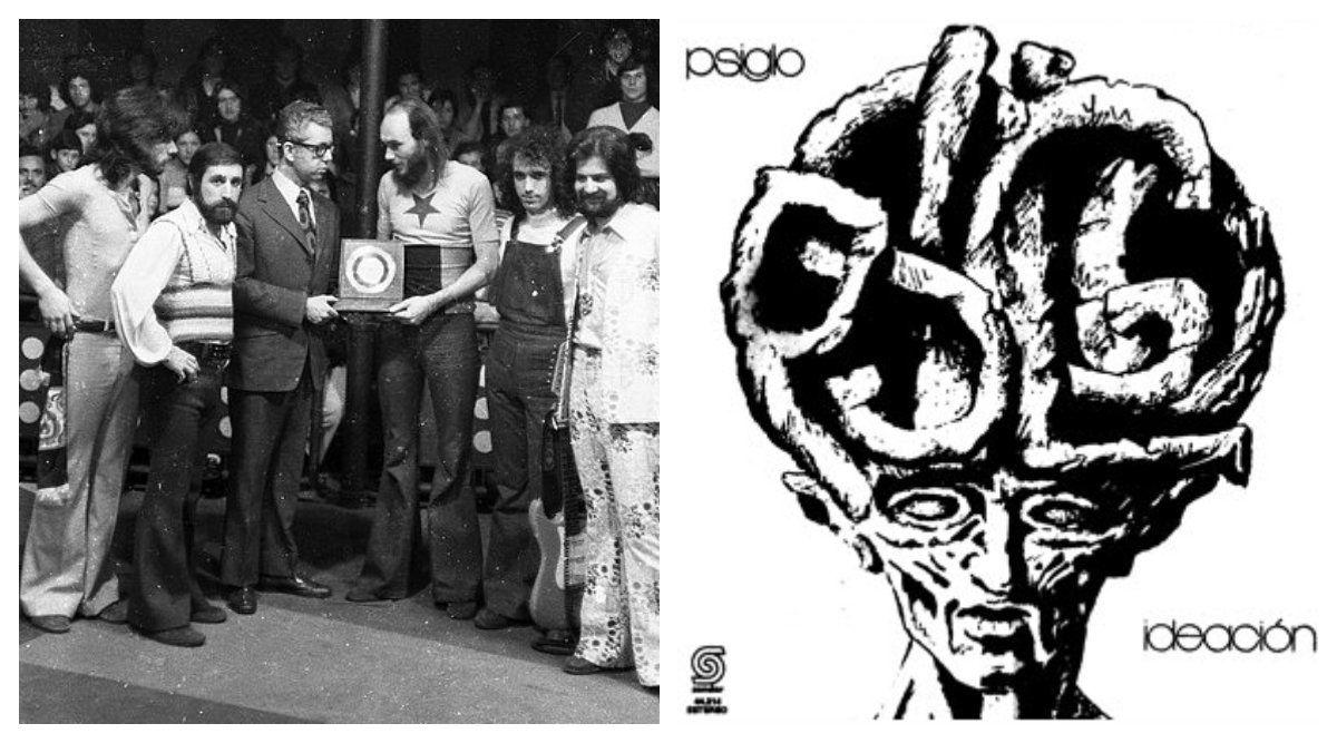 Gonzalo Farrugia recibe una placa en nombre de Psiglo. La banda estuvo activa apenas cuatro años pero dejó marcas en el rock progresivo