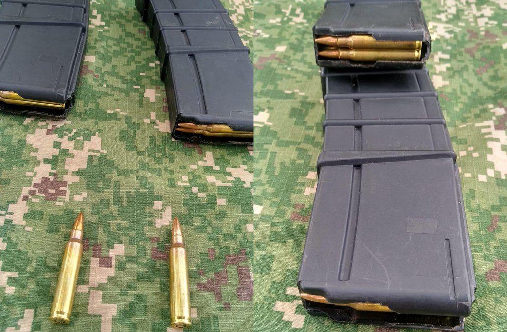 Armada encontró dos cargadores de fusil AR 15 durante patrullaje en Artigas