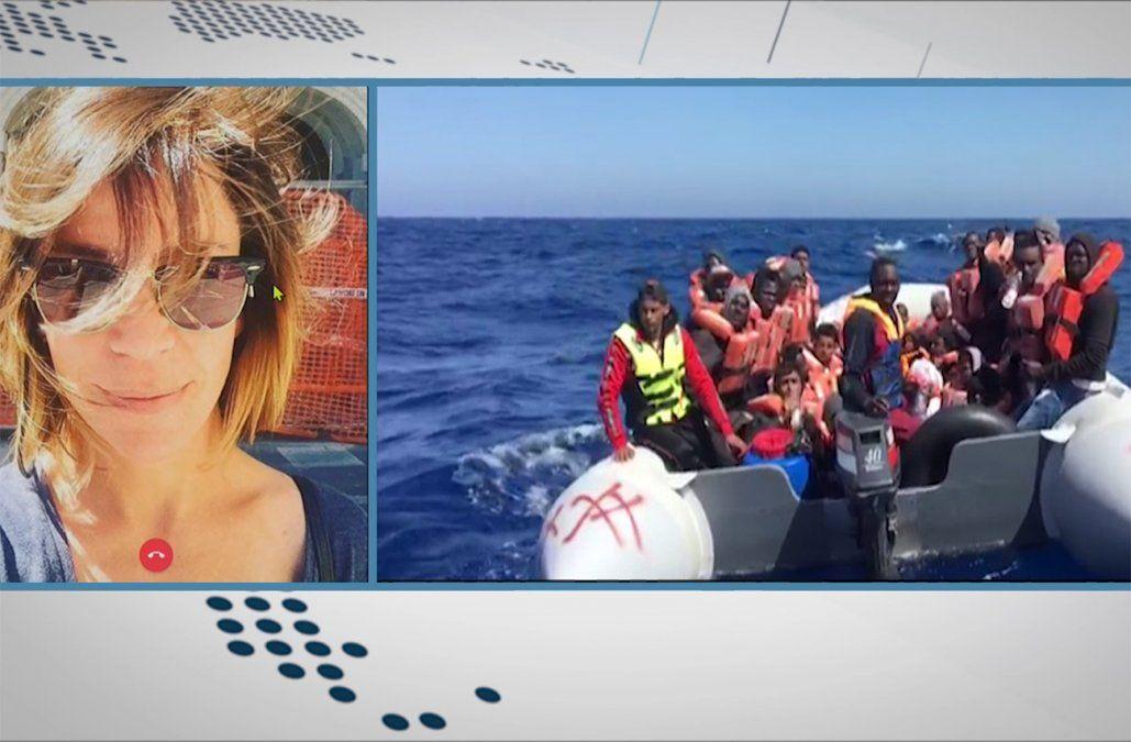 Uruguaya protagonizó el rescate de 44 africanos en el Mar Mediterráneo
